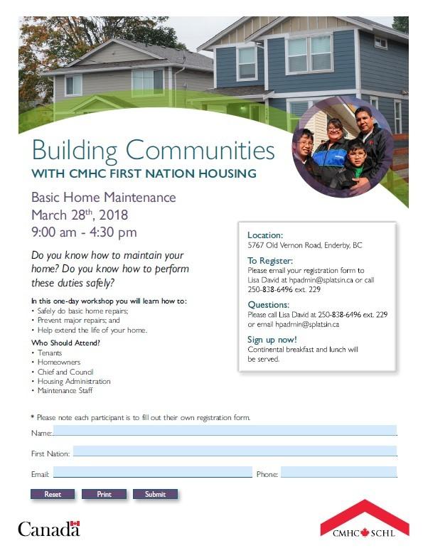 Building Communities - Basic Home Maintenance - Splatsin