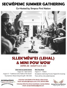 Lahal Mini Powwow 2019 Summer Gathering